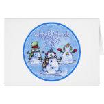 Winter Friends Snowmen - Christmas card