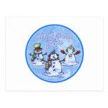 Winter Friends Snowmen - Christmas card Postcard