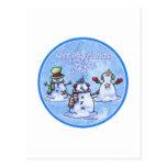 Winter Friends Snowmen - Christmas card Postcards
