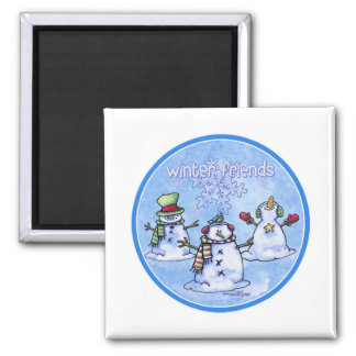 Winter Friends Snowmen Magnet