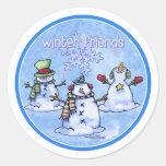 Winter Friends Snowmen Sticker