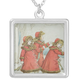 Winter' from April Baby's Book of Tunes, 1900 Silver Plated Necklace