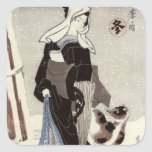 Winter, from the series 'Shiki no uchi' Square Sticker
