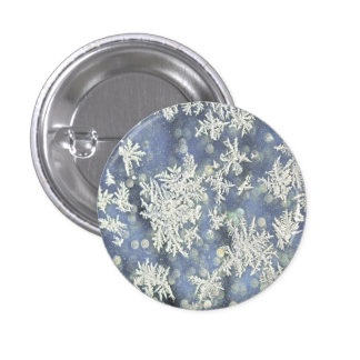 Winter Frost Detail Photograph Buttons