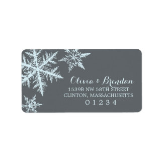 Winter Frost Snowflakes | Address Label