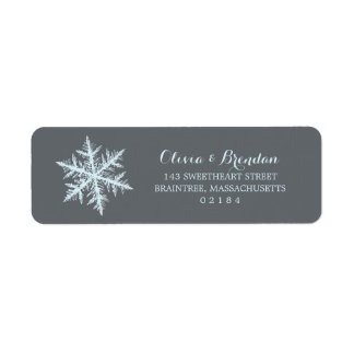 Winter Frost Snowflakes | Return Address Label