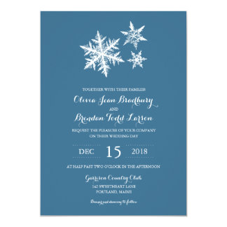 Winter Frost Snowflakes | Wedding Card
