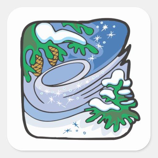 Winter Frost Square Sticker
