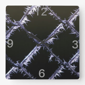 Winter frost square wall clock