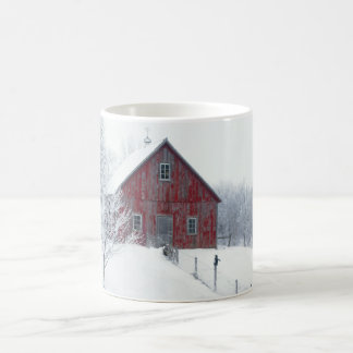 Winter Frost with Barn Coffee Mug