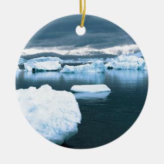 Winter Frozen Antarctica Ceramic Ornament