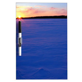 Winter Frozen Moose Lake At Sunset Minnesota Dry-Erase Whiteboard