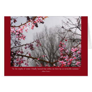 Winter fruit trees card