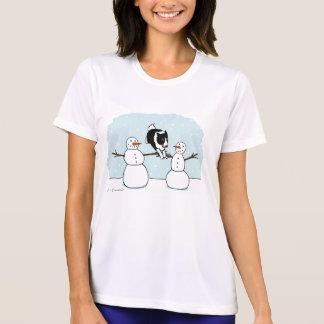 Winter Fun Border Collie Dog with Snowmen Shirt