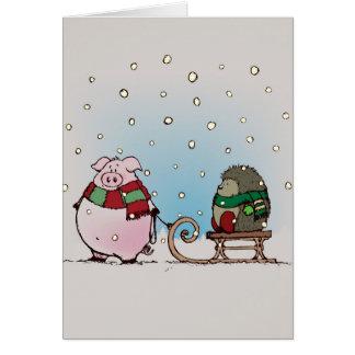 Winter fun card