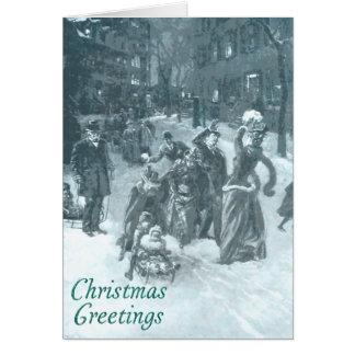 Winter fun Christmas card. Card