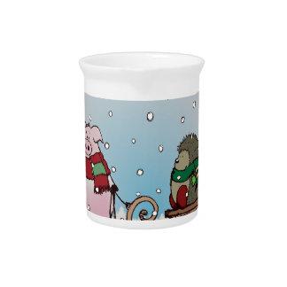 Winter fun drink pitcher