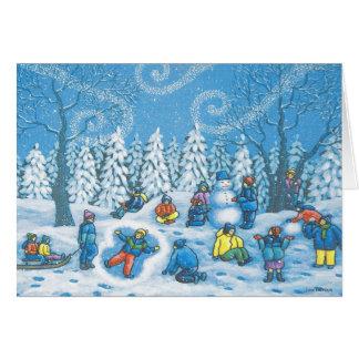Winter fun greeting cards