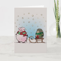 Winter fun holiday card