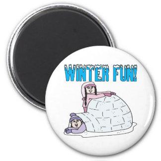 Winter Fun Magnet