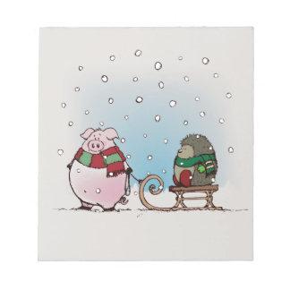 Winter fun notepad