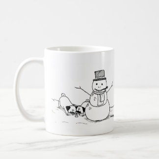 Winter Fun Pugs Coffee Mug