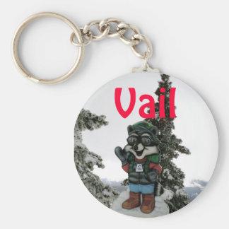 Winter Fun: Vail, Colorado Keychain