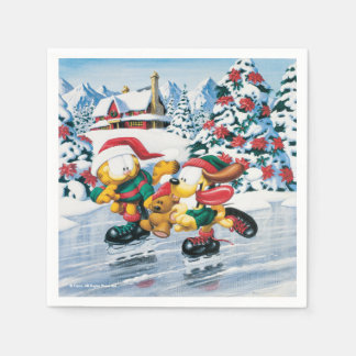 Winter fun with Garfield, Odie & Pooky Napkin