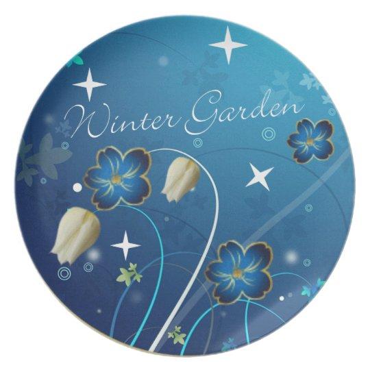 winter garden dinner plate