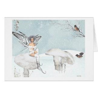 winter garden fantasy greeting card