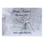 Winter Garden Large Business Cards (Pack Of 100)