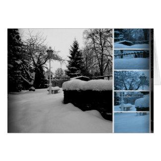 Winter Garden Photo Collage Card