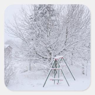 Winter Garden Square Sticker