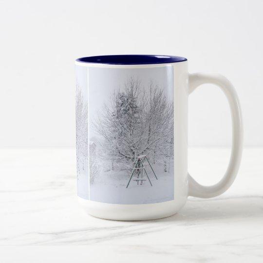 Winter Garden Two-Tone Coffee Mug