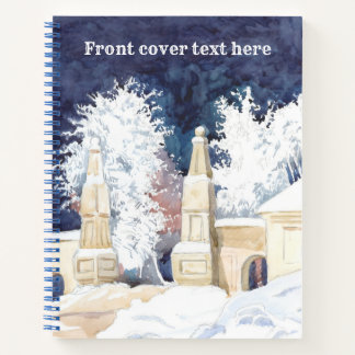 Winter gate at night notebook