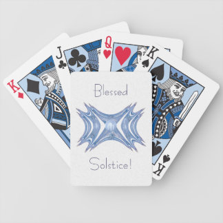 Winter Gates Abstract Art Bicycle Playing Cards