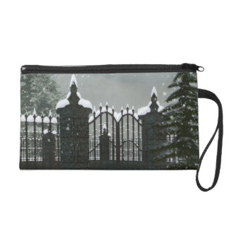 Winter Gates & Deer Wristlet Purse