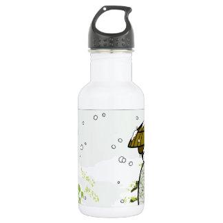 Winter Geisha Kitty 18oz Water Bottle