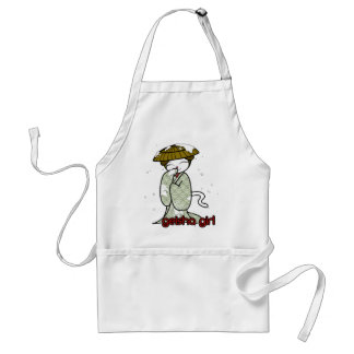 Winter Geisha Kitty Adult Apron
