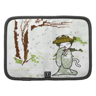 Winter Geisha Kitty Folio Planners