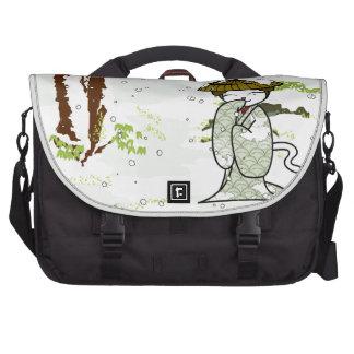 Winter Geisha Kitty Commuter Bag