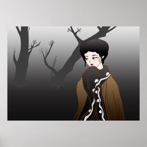 Winter Geisha Poster Print