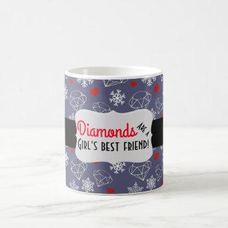 Winter Gemstone Diamonds and Snowflakes Coffee Mug