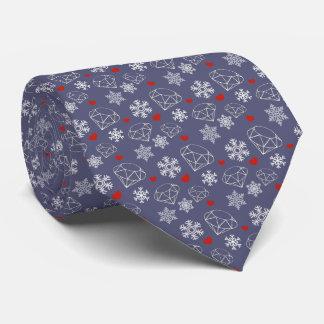 Winter Gemstone Diamonds and Snowflakes Tie