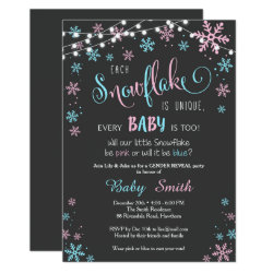 Winter Gender Reveal Invitation
