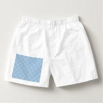 Winter Geometric Seamless Pattern in Light Blue Boxers