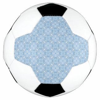 Winter Geometric Seamless Pattern in Light Blue Soccer Ball