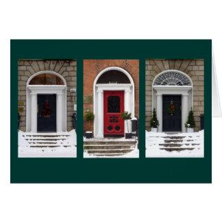 Winter Georgian Doors (Dublin) Card