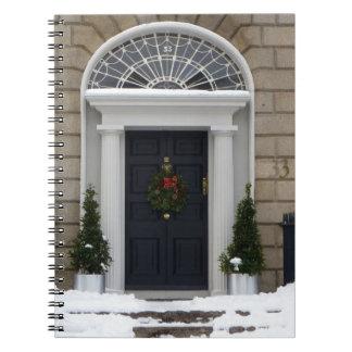 Winter Georgian Doors (Dublin) Notebook