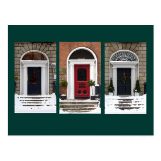 Winter Georgian Doors Postcard